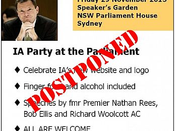 Party at the Parliament: 29 November: POSTPONED
